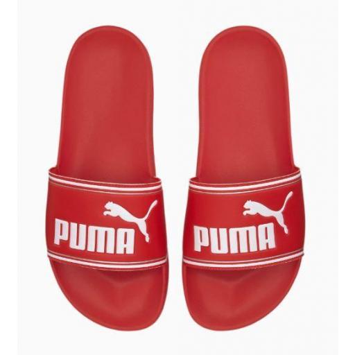 Chanclas Puma Mujer Leadcat FTR Roja/Blanca [1]