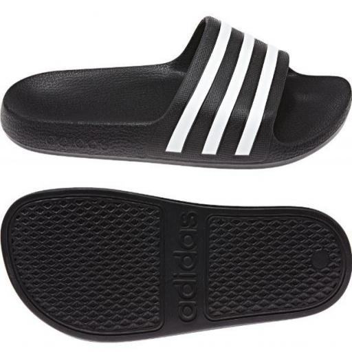 Chanclas Adidas Adilette Aqua K Negro Blanco
