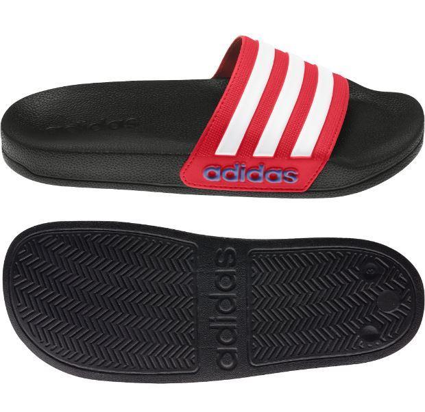 Chanclas Adidas Adilette Shower K Negra/Roja