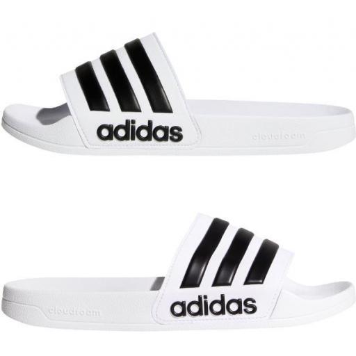 Chanclas Adidas Adilette Shower Blanca/Negra [1]