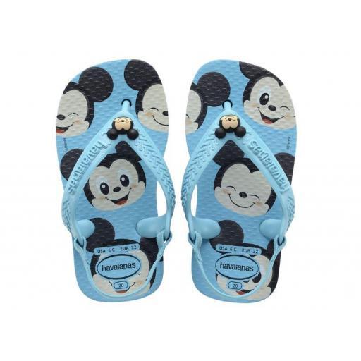 Sandalias Havaianas Baby Disney Classics FC Mickey Azul