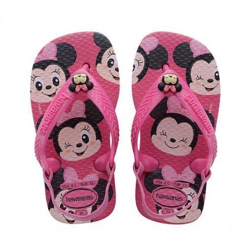 Sandalias Havaianas Baby Disney Classics FC Minnie Rosa