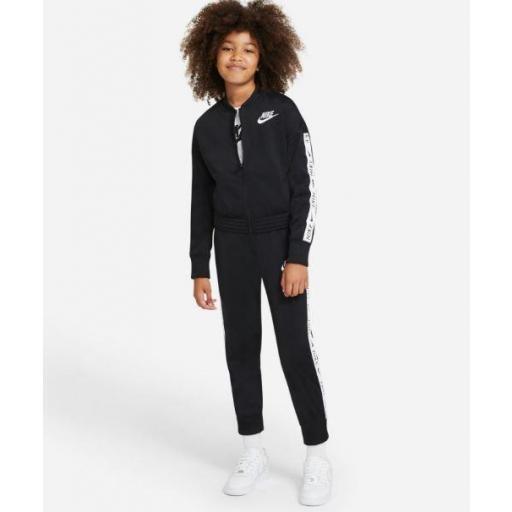 Nike Chándal Niña Sportswear Tracksuit Tricot Negro/Blanco [1]