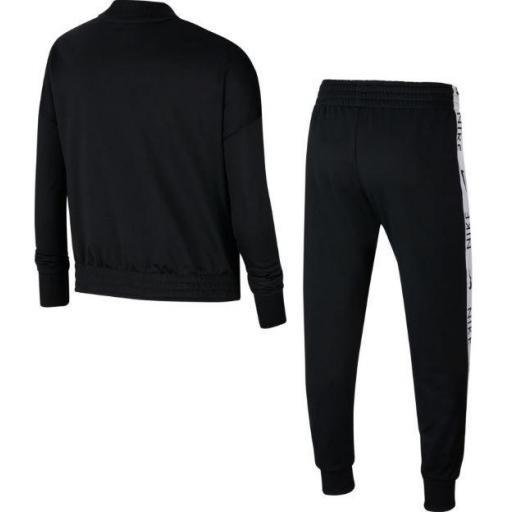 Nike Chándal Niña Sportswear Tracksuit Tricot Negro/Blanco [2]