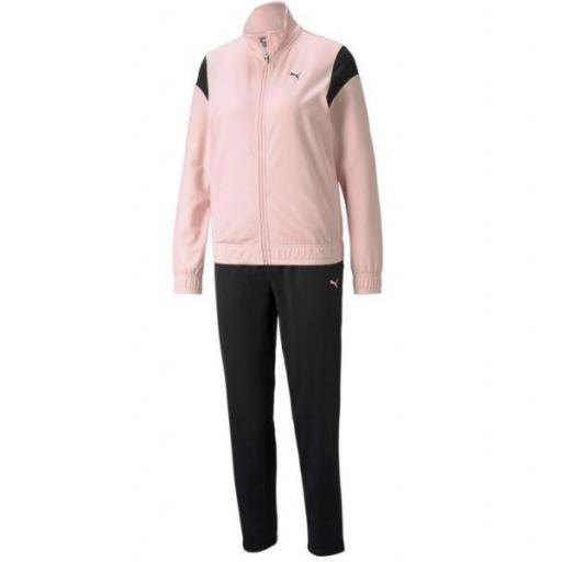 Chándal Puma Classic Tricot Suit Op Mujer Rosa/Negro