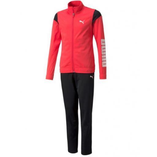 Chándal Puma Tricot Suit Niñas Rosa/Negro