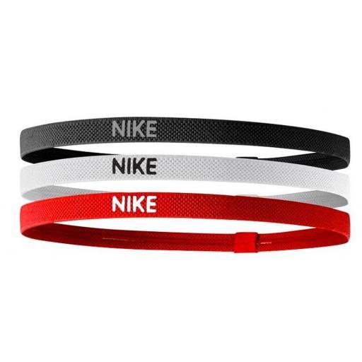 Cinta Pelo Nike Elastic Hairbands Pack 3 Negro Blanco Rojo