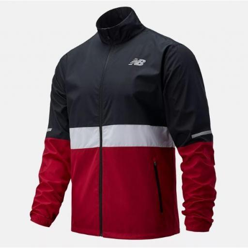 Cortavientos New Balance Accelerate Jacket Negro/Granate