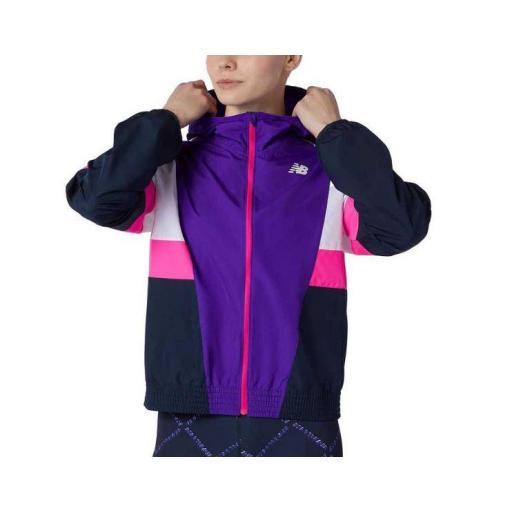 Cortavientos New Balance Fast Flight Jacket Mujer Violeta