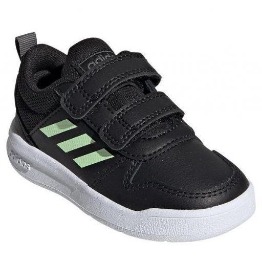 Zapatillas Adidas Tensaur I Niño Velcro Negro/verde [1]