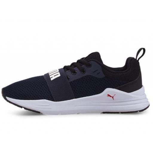 Zapatillas Puma Wired Run Junior Azul/Blanco [1]