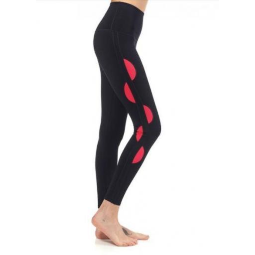 Ditchil Malla Larga Nassor Legging Negro/Rojo