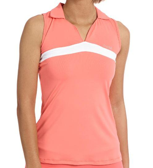 Ditchil Polo sin Mangas Seth Mujer Coral