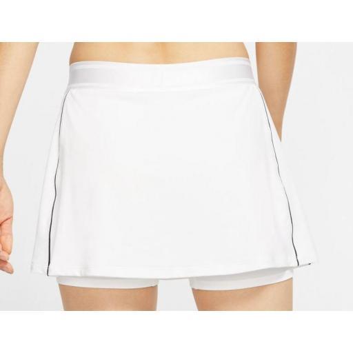 Falda Nike Court Dry Tenis Skirt Blanca [2]