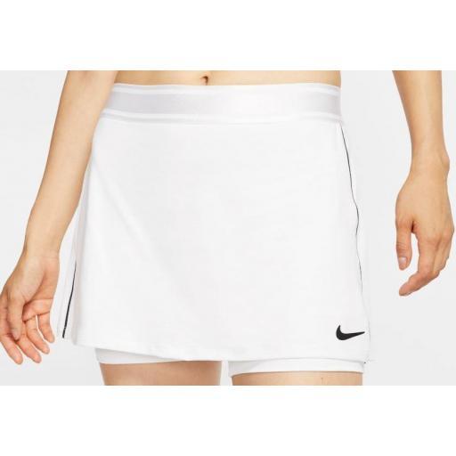 Falda Nike Court Dry Tenis Skirt Blanca [1]