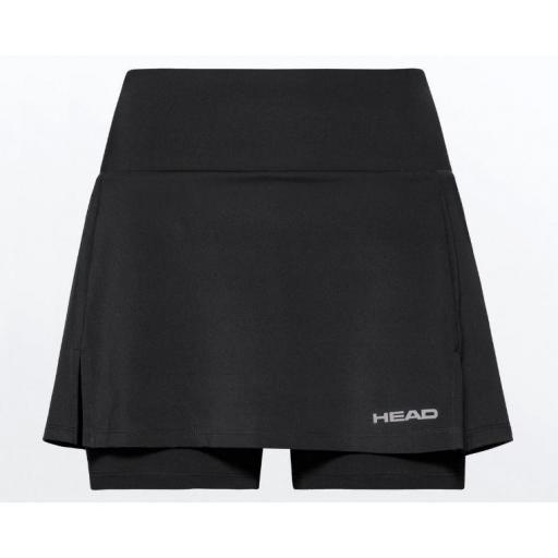 Falda Pantalón HEAD Basic Skort W Negro