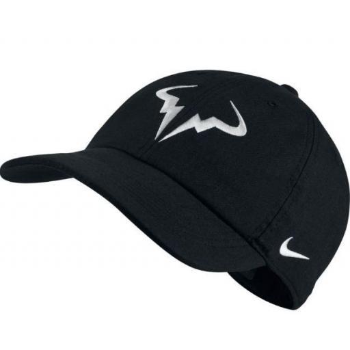 Gorra Nike Rafa Nadal AeroBill H86 Tenis Negra/Blanca