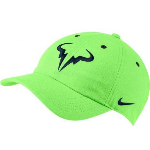 Gorra Nike Rafa Nadal AeroBill H86 Tenis Verde/Azul
