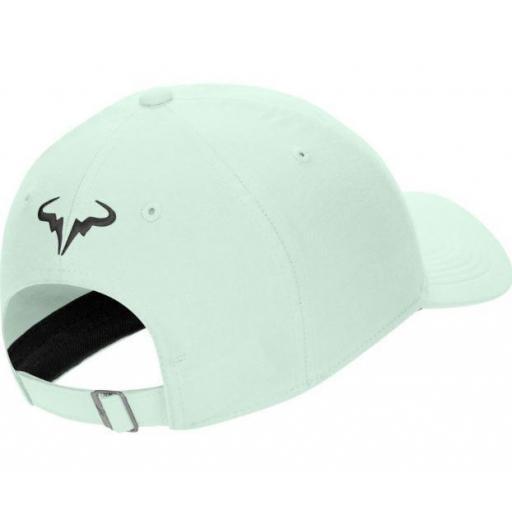 Nike Gorra Rafa Nadal AeroBill H86 Tenis Verde Claro/Negro [1]