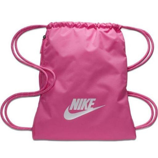 Bolsa Gimnasio Nike Heritage 2.0 Gymsack Rosa/Blanco