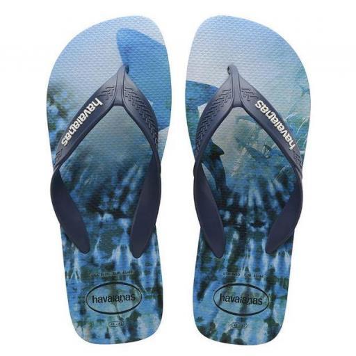 Chanclas Havaianas Surf FC Hombre Azul Tiburon