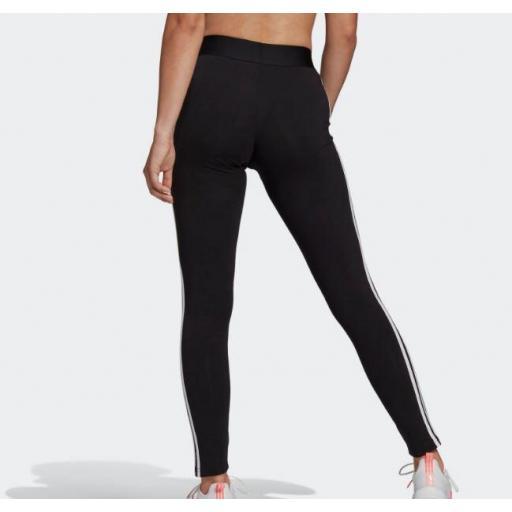Malla Adidas Loungewear Essentials 3S Legging Negro/Blanco [2]