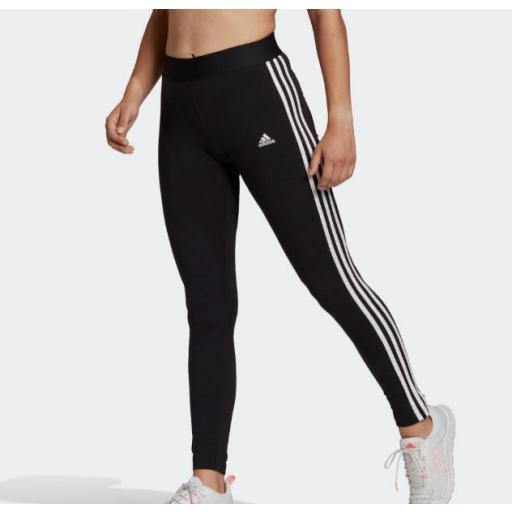 Malla Adidas Loungewear Essentials 3S Legging Negro/Blanco