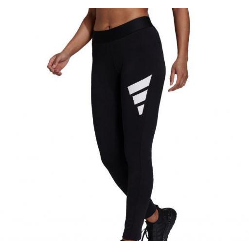 Malla Adidas W Future Icons 3 Bandas Legging Negro/Blanco [1]