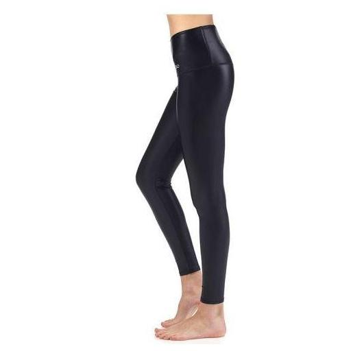 Ditchil Malla Larga Mudads Legging Negro Brillante