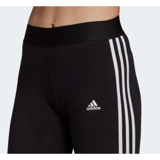 Malla Adidas Loungewear Essentials 3S Legging Negro/Blanco [1]