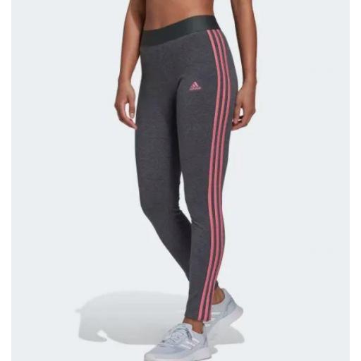 Malla Adidas LOUNGEWEAR Essentials 3S Legging Gris/Rosa