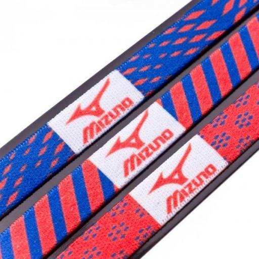 Cinta Pelo Mizuno HeadBand Pack 3 Unidades Naranja Azul [1]