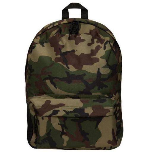 New Era Mochila Stadium Woodland Camuflaje