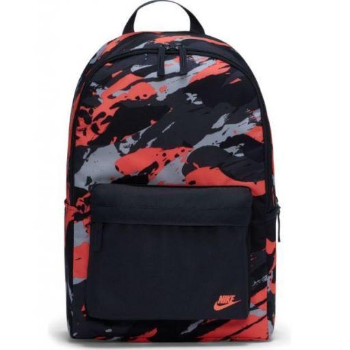 Mochila Nike Heritage Camuflaje Negro/Rojo/Gris