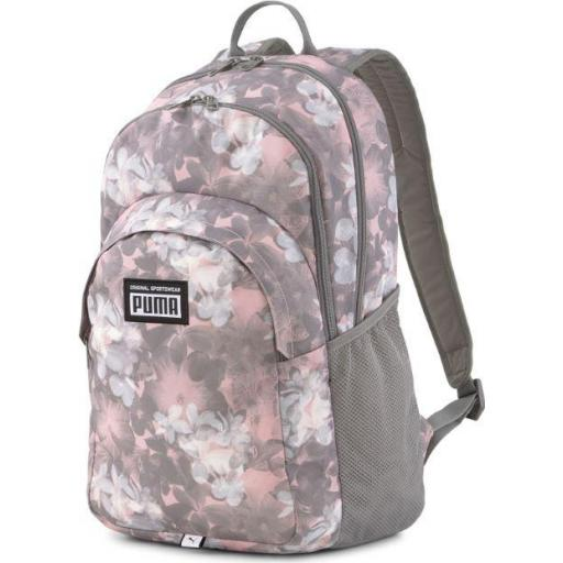 Mochila Puma Academy Backpack Estampado Rosa Floral