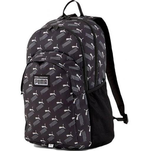 Mochila Puma Academy Backpack Logo Negro/Blanco