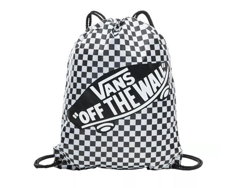 Bolsa Saco Vans Benched Bag Checker Cuadros Blanco/Negro