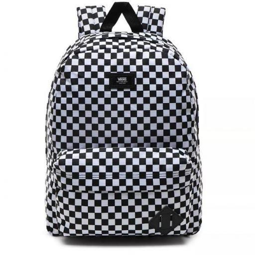 Vans Mochila Old Skool III Backpack Cuadros Negro/Blanco