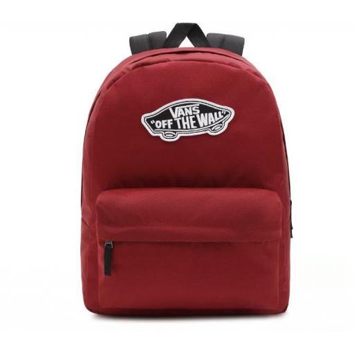 Mochila Vans Realm Backpack Rojo Granate