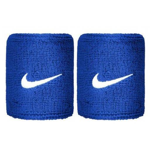 Muñequeras Nike Swoosh Wristband Azul
