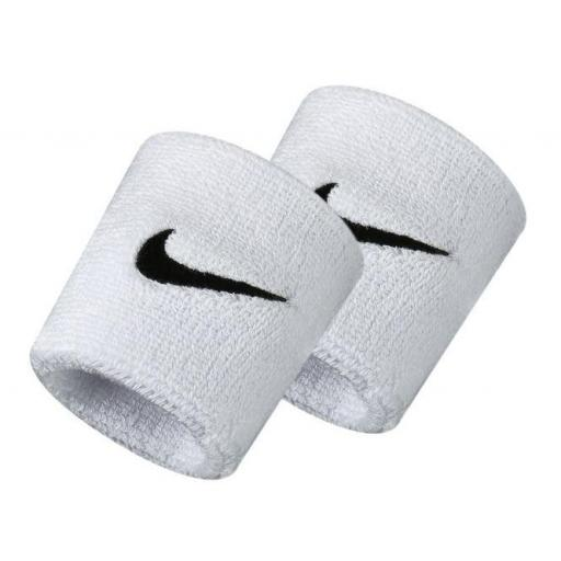 Muñequeras Nike Swoosh Wristband blanco