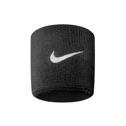Muñequeras Nike Swoosh Wristband negro [1]
