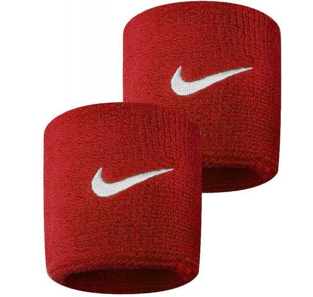 Muñequeras Nike Swoosh Wristband Rojo