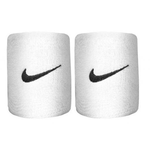 Muñequeras Nike Swoosh Wristband blanco [1]