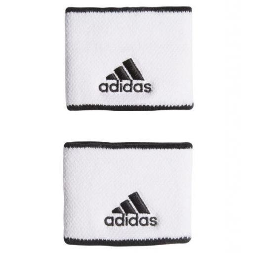 Muñequeras Adidas Tenis Padel Wristband S Negro/Blanco