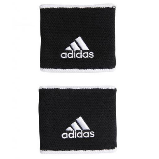 Muñequeras Adidas Tenis Padel Wristband S Negro/Blanco [1]