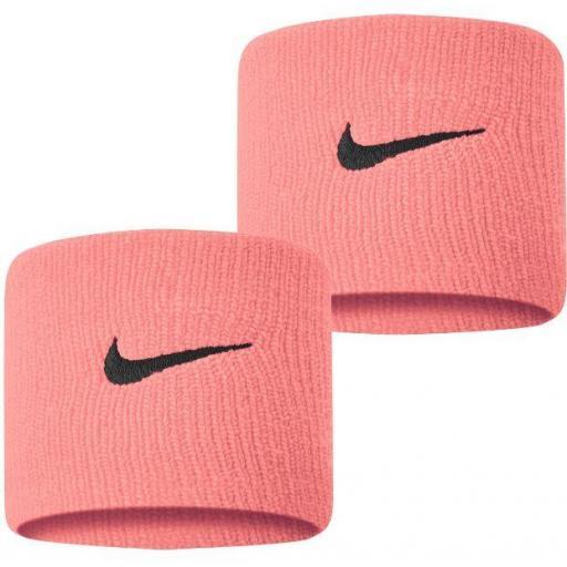 Muñequeras Nike Swoosh Wristband Rosa Claro