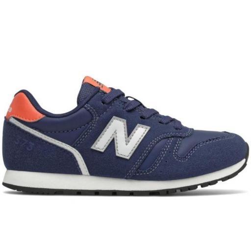 Zapatilla New Balance 373 Niño Azul/Blanco/Naranja