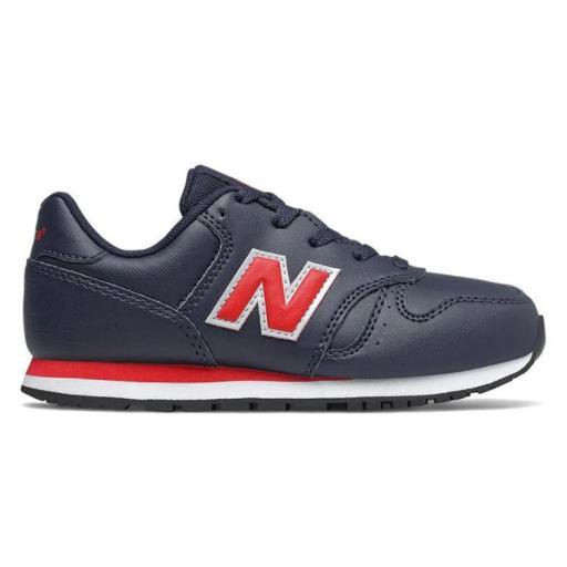 Zapatillas New Balance 373 Niño Azul Marino/Rojo yc373eno