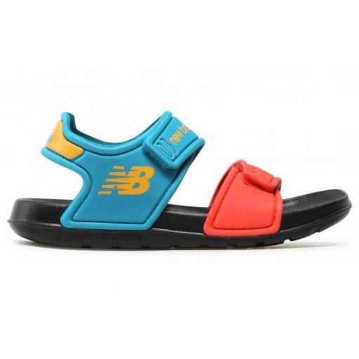 Sandalias New Balance Sport Sandal Niños Velcro Azul/Naranja